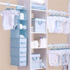 Walmart: Delta - Nursery Storage Set, Baby Blue from Walmart. Shop more products from Walmart on Wanelo. Nursery Closet Organization, Baby Closet Dividers, Nursery Storage, Bedroom Storage, Shelf Dividers, Baby Boy Rooms, Baby Bedroom, Ideas Armario, Zeina