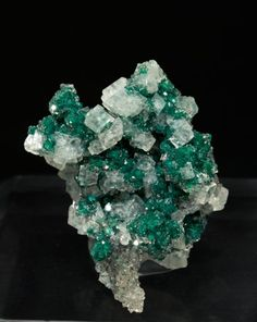 ★ Calcite with Dioptase from Namibia by Fabre Minerals #Mineral