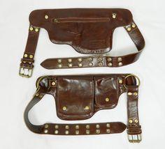 Hip Pack cuir ceinture d'utilité brun foncé plus par WCCouture