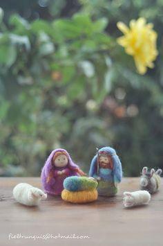 belén de fieltro (needle felting) 2012 Nativity scene by Fieltrunguis, via Flickr