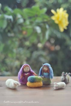 belén de fieltro (needle felting) 2012 Nativity scene by Fieltrunguis, via Flickr