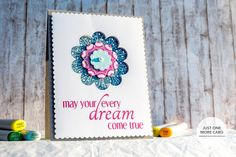 How doodle you do? Julia created this awesome card using our Wonderful Words and Loving Blooms Fri-Dies, and her own doodling skills. She'll show you how in the video tutorial she created for us at CAS-ual Fridays Stamps. www.cas-ualfridaysstamps.com #casfridays #handmade #doodle