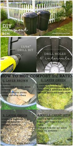 DIY Instructions on building a Compost Bin.