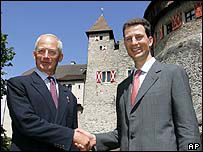 Hans Adam 11 Prince of Liechtenstein and the Heir HSH hereditary Prince Alois