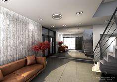 3D Visualisierung des Eingangsbereiches.
