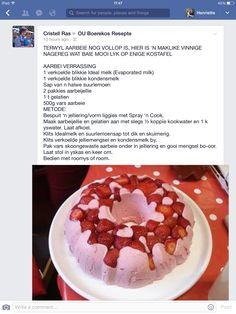 Aarbei Verassing Pudding Desserts, Easy Desserts, Delicious Desserts, Sweet Pie, Sweet Tarts, Chen, Beer Bread Mix, Milkshake Recipes, Dessert Decoration