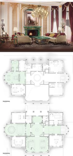 House Layout Plans, House Layouts, House Floor Plans, Masterplan Architecture, Architecture Plan, Mansion Plans, Villa Plan, House Construction Plan, Floor Plan Drawing