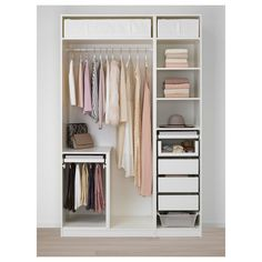 Furniture and Home Furnishings IKEA - PAX Wardrobe white, Marnardal floral patterned Ikea Pax Wardrobe, Ikea Closet, Diy Wardrobe, White Wardrobe, Wardrobe Storage, Small Wardrobe, Storage Room, Wardrobe Ideas, Pax Wardrobe Planner