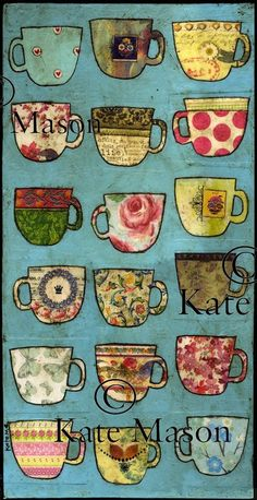 Art Tea Cups quilt by Kate Mason quilts