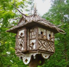 Image result for how to build a birdhouse with twigs #buildabirdhouse #howtobuildabirdhouse
