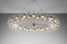 "KAGADATO selection. The best in the world. Industrial lighting design. **************************************""Embassy"" Chandelier Vilhelm Lauritzen"