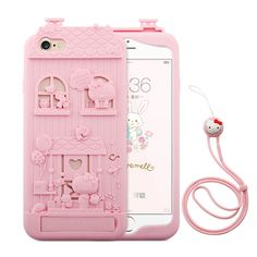 For Apple Iphone 6S plus/6 Plus Soft Case Hello Kitty 3D Cartoon Fairy Tale Silicone Stand For Iphone 6/6S Phone Cover Fundas //Price: $14.97 & FREE Shipping //     #hashtag4