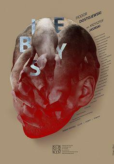 Theatre Posters by Katarzyna Zapart, via Behance