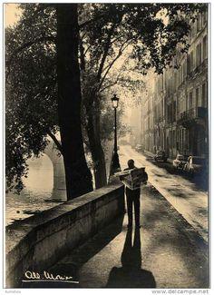 Albert Monier, Paris LE QUAI DE BOURBON VERS LE PONT MARIE