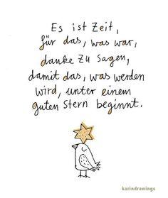 ..damit das was werden wird, unter einem guten Stern beginnt...