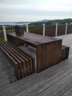 Modern Garden Furniture, Diy Outdoor Furniture, Outside Furniture, Outdoor Decor, Outdoor Life, Outdoor Spaces, Outdoor Living, Wooden Patios, Bedroom Decor For Teen Girls