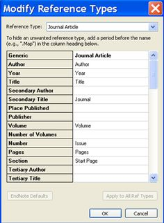 Endnote Reference Types - EndNote Library Management - LibGuides at University of Toledo Libraries