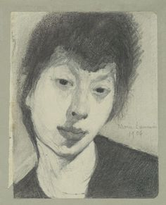 "Self-Portrait  Marie Laurencin (French, 1883–1956)    1906. Pencil on paper, 13 3/4 x 12 1/4"" (34.9 x 31.1 cm). © 2013 Artists Rights Society (ARS), New York / ADAGP, Paris"