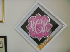 A great way to decorate your home with your graduation gear!