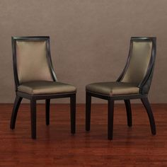 @Overstock.com - Park Avenue Black Croco/ Bronze Leather Dining Chair (Set of 2) - Add a touch of elegance to your home decor with this leather chair from Park Avenue. A dark brown finish and bronze leather compeltes this modern dining chair.   http://www.overstock.com/Home-Garden/Park-Avenue-Black-Croco-Bronze-Leather-Dining-Chair-Set-of-2/6649614/product.html?CID=214117 $296.99