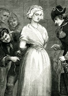 tiny-librarian:  Marie Antoinette being prepared for the guillotine.