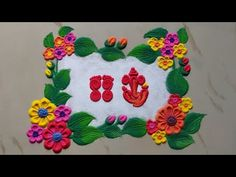 Rangoli Designs Simple Diwali, Simple Rangoli Border Designs, Rangoli Designs Latest, Rangoli Designs Flower, Free Hand Rangoli Design, Rangoli Patterns, Small Rangoli Design, Rangoli Ideas, Colorful Rangoli Designs