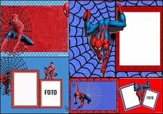 Spiderman: Free Printable Invitations, Cards or Photo Frames.