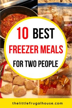 My top 10 best freezer meals for two people, to save you time and money! These make ahead freezer meals are great for the crockpot, skillet, or microwave. 10 Best Freezer Meals for Two 10 Best Freezer Meals for Two - The Little Frugal House Freezable Meals, Budget Freezer Meals, Make Ahead Freezer Meals, Freezer Cooking, Frugal Meals, Cooking Recipes, Freezer To Crockpot Meals, Easy Cooking, Chicken Freezer Meals