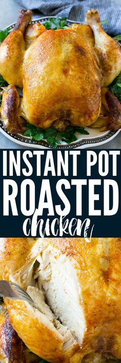 Home Made Doggy Foodstuff FAQ's And Ideas Cooking A Whole Chicken Has Never Been Easier Than This Instant Pot Roasted Chicken The Chicken Cooks In Just 30 Minutes And Produces A Moist And Juicy Bird That's The Perfect Simple Dinner Option Crock Pot Recipes, Cooking Recipes, Soup Recipes, New Chicken Recipes, Whole Food Recipes, Recipe Chicken, Instant Pot Pressure Cooker, Pressure Cooker Recipes, Pressure Cooking