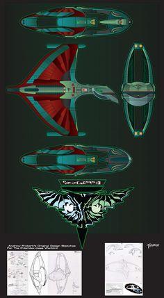 startrekattackwing.com Dderidex-class Romulan Warbird prototype by stourangeau.deviantart.com on @DeviantArt