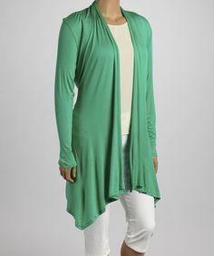 Look at this #zulilyfind! Green Tie-Waist Duster - Plus #zulilyfinds