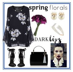 """Dark Floral"" by tmorris-tm on Polyvore featuring Schutz, Mawi, Givenchy, Topshop and springflorals"