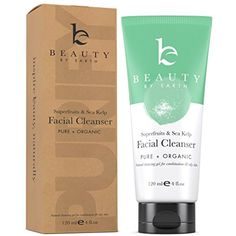 Facial Cleanser - Organic and Natural Gel Daily Face Wash Anti Aging, Deep Pore Cleansing Soap for Acne Prone Breakouts, Normal, Oily or Combination Skin, Best for Men  #SkinCare