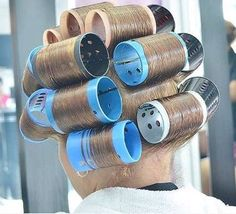 Vintage Hairstyles Curls my guy looks so sexy with his hair in rollers Sleep In Hair Rollers, Hair Curlers Rollers, Curled Hairstyles, Vintage Hairstyles, Cool Hairstyles, Retro Updo, Wet Set, Mini Iron, Bobe