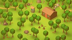 The Cabin (Low Poly Isometric) by on DeviantArt Polygon Art, Game Environment, Low Poly Models, Low Poly 3d, Game Concept Art, Fungi, Art Nouveau, Art Deco, Pixel Art