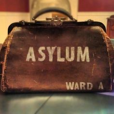 Vintage doctor bag from an asylum.