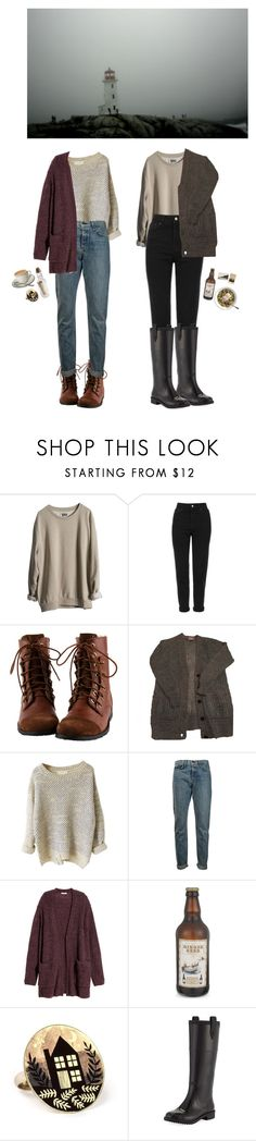 """""""Walking the Shoreline"""" by thesightofstars ❤ liked on Polyvore featuring MTWTFSS Weekday, Topshop, rag & bone, H&M, Bonbi Forest and Jimmy Choo"""