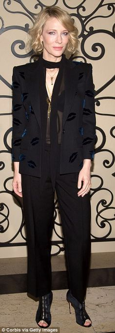 Work it! Cate Blanchett had no trouble landing a front row seat at Givenchy's Spring/Summe...
