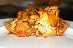 Roasted Cauliflower with Red Chile, Cilantro & Lime. . .this sounds great!!