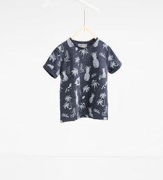 39f6a4b30cd Image 1 of Pineapple and aloha T-shirt from Zara Zara Boys