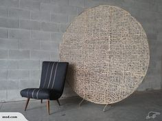Large Round Mid Century Room Divider | Trade Me