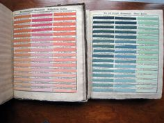 """""""Viennese Color Collection or Complete Book of Samples of all Natural, Basic, and Combined Colors,"""" compiled by Johann Ferdinand Ritter von Schönfeld, in 1794,   From a series of articles at PRINT by Jude Stewart: """"The Wonderful Color Wheel"""""""
