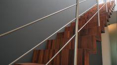 RVS balustrade met knieregels #Lumigrip #maatwerk #traprenovatie