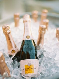 cocktail hour veuve champagne chilled on ice for celebration birthday wedding anniversary engagement party Veuve Cliquot, Tim Tim, Champagne Party, Rose Champagne, In Vino Veritas, Classic Cocktails, Party Planning, Party Time, Photos