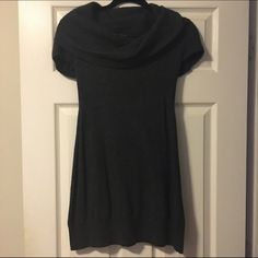 Short sleeve sweater dress This is an Eastside Westside sweater dress that is dark gray. It is a size large, but fits much more like a medium. Eastside Westside Dresses