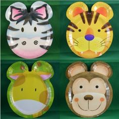 Safari Party shaped plates