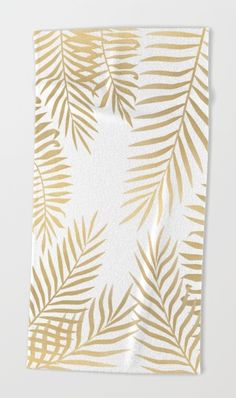 Gold palm leaves by Marta Olga Klara