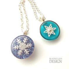 How to Make Snowflake Resin Jewelry Tutorial - The Beading Gem's Journal
