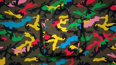 Camouflaged Urban Couture : valentino menswear