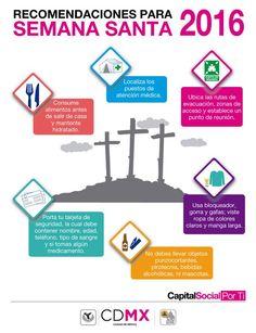 Si acudes a alguno de los eventos religiosos #SemanaSanta2016 toma en cuenta estas recomendaciones Vía: SPCCDMX